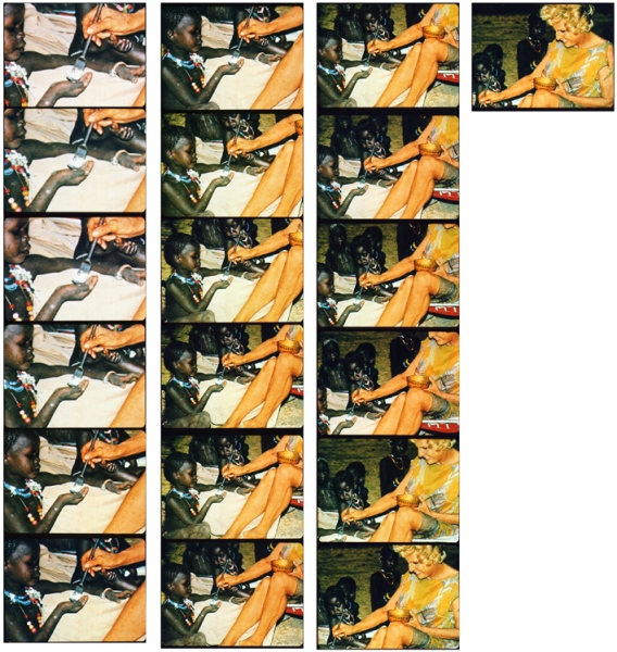 LENI  series of 19 c-prints 19.5 x 25.7 cm each, overall dimension 140.5 x 138 cm, 2010
